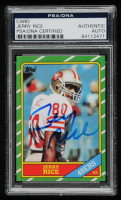 Jerry Rice Signed 1986 Topps #161 RC (PSA Encapsulated) at PristineAuction.com