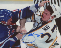 Brad May Signed Sabres 8x10 Photo (Playball Ink Hologram) at PristineAuction.com