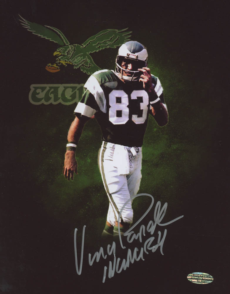 "Vince Papale Signed Eagles 8x10 Photo Inscribed ""Invincible"" (Playball Ink Hologram) at PristineAuction.com"