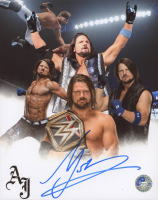 A.J. Styles Signed WWE 8x10 Photo (Pro Player Hologram) at PristineAuction.com