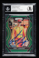 Joey Logano Signed 2018 Panini Prizm Green #45 - #014/149  (Beckett Encapsulated) at PristineAuction.com