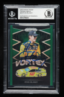 Ryan Blaney Signed 2018 Panini Prizm Green #58 Vortex - #095/149 (Beckett Encapsulated) at PristineAuction.com