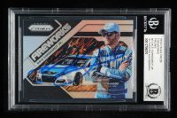 Dale Earnhardt Jr. Signed 2018 Panini Prizm Fireworks #3 Silver Prizms (Dale Jr. Hologram & Beckett Encapsulated) at PristineAuction.com