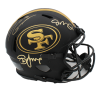 Joe Montana, Steve Young, & Jimmy Garappolo Signed 49ers Full-Size Authentic On-Field Eclipse Alternate Speed Helmet (Radtke COA) at PristineAuction.com