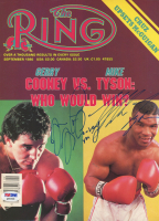 Mike Tyson & Gerry Cooney Signed 1986 The Ring Magazine Cover Page (PSA COA) at PristineAuction.com