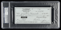 Walter Cunningham Signed 1998 Personal Bank Check (PSA Encapsulated) at PristineAuction.com