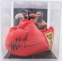 Pair of (2) Mike Tyson Signed Everlast Boxing Gloves With Display Case (PSA COA) (See Description) at PristineAuction.com