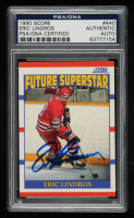 Eric Lindros Signed 1990-91 Score #440 RC (PSA Encapsulated) at PristineAuction.com