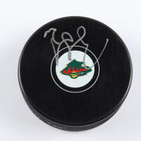 Ryan Suter Signed Wild Logo Hockey Puck (Beckett COA) at PristineAuction.com
