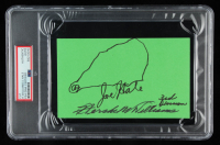 Hershel W. Williams & Joe Hale Signed 4x6.5 Cut (PSA Encapsulated) at PristineAuction.com