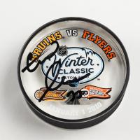 Zdeno Chara Signed 2010 Winter Classic Logo Acrylic Hockey Puck (YSMS COA & Chara Hologram) at PristineAuction.com