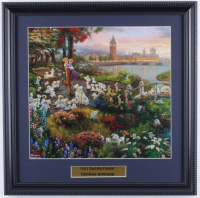 "Thomas Kinkade ""101 Dalmations"" 16x16 Custom Framed Print Display at PristineAuction.com"