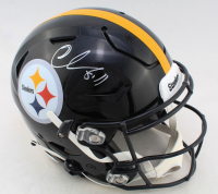 Chase Claypool Signed Steelers Full-Size Authentic On-Field SpeedFlex Helmet (Beckett COA) at PristineAuction.com