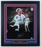 Megan Rapinoe Signed Team USA 22.25x26.25 Custom Framed Photo Display (JSA COA) (See Description) at PristineAuction.com
