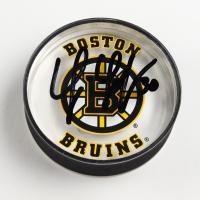 Tim Thomas Signed Bruins Logo Acrylic Hockey Puck (Thomas COA) at PristineAuction.com