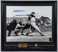 Ted Williams Signed Red Sox 21x23 Custom Framed Photo Display (PSA LOA & Williams Hologram) at PristineAuction.com
