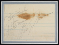 """Joe DiMaggio & Marilyn Monroe Signed 22x26 Custom Framed Signed Cut Display Inscribed """"Best Wishes From"""" (JSA LOA) at PristineAuction.com"""