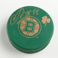 Anton Khudobin Signed Bruins St. Patrick's Day Logo Hockey Puck (Khudobin COA) at PristineAuction.com