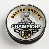David Krejci Signed 2011 Bruins Stanley Cup Champions Logo Acrylic Hockey Puck (Krejci COA) at PristineAuction.com
