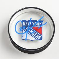Chris Kreider Signed Rangers Logo Acrylic Hockey Puck (Kreider COA) at PristineAuction.com