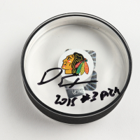 "Dylan Strome Signed Blackhawks Logo Acrylic Hockey Puck Inscribed ""2015 #3 Pick"" (Strome COA) at PristineAuction.com"