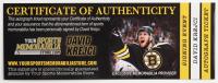 David Krejci Signed Bruins Logo Acrylic Hockey Puck (Krejci COA) at PristineAuction.com