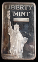10 Troy Oz .999 Fine Silver Liberty Mint Bullion Bar at PristineAuction.com