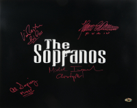 """The Sopranos"" 16x20 Photo Cast-Signed by (4) With Michael Imperioli, Vincent Pastore, Al Sapienza & Federico Castelluccio with (4) Inscriptions (MAB Hologram) at PristineAuction.com"