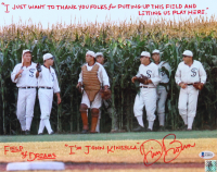 "Dwier Brown Signed ""Field Of Dreams"" 11x14 Photo with Multiple Inscriptions (Beckett COA & Brown Hologram) (See Description) at PristineAuction.com"
