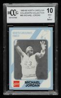 Michael Jordan 1989-90 North Carolina Collegiate Collection #65 (BCCG 10) at PristineAuction.com