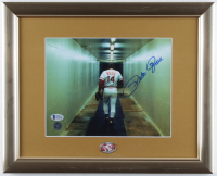 Pete Rose Signed Reds 13x16 Custom Framed Photo Display with Reds Pin (Beckett COA & Rose Hologram) (See Description) at PristineAuction.com