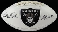 "Tom Flores Signed Raiders Logo Football Inscribed ""1st Raiders QB"" (JSA COA) at PristineAuction.com"