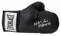 Evander Holyfield & Mike Tyson Signed Everlast Boxing Glove (JSA COA) at PristineAuction.com