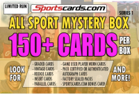 "Sportscards.com ""ALL SPORTS MYSTERY BOX"" 150+ CARDS PER BOX! – SERIES 1 at PristineAuction.com"