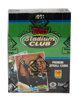1991 Topps Stadium Club Football Wax Box with (36) Packs (BBCE Certified) at PristineAuction.com