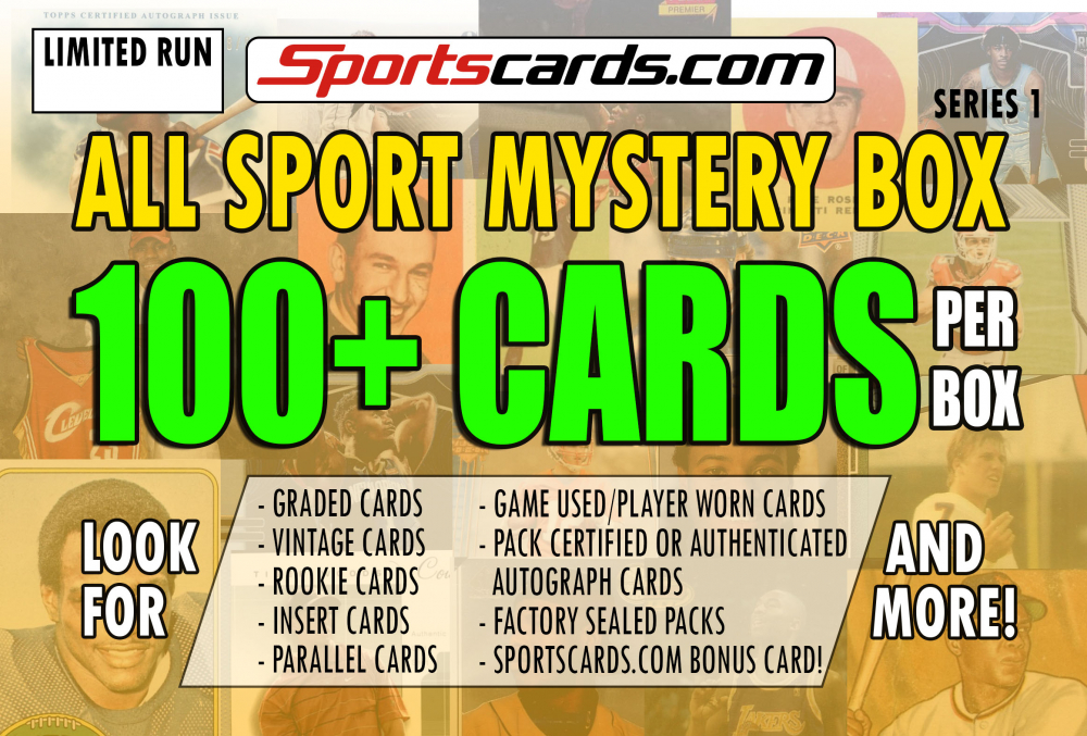 "Sportscards.com ""ALL SPORTS MYSTERY BOX"" 100+ CARDS PER BOX! – SERIES 1 at PristineAuction.com"