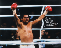 "Roberto Duran Signed 16x20 Photo Inscribed ""Manos De Piedra"" (Beckett COA) at PristineAuction.com"