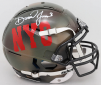 Daniel Jones Signed Full-Size Authentic On-Field Hydro Dipped F7 Helmet (Beckett COA) at PristineAuction.com
