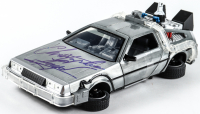 "Christopher Lloyd Signed ""Back to the Future II"" DeLorean Time Machine 1:24 Scale Die-Cast Car (Beckett Hologram) at PristineAuction.com"