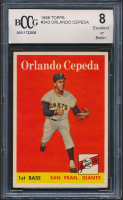 Cepeda 1958 Topps #343 Orlando RC (BCCG 8) at PristineAuction.com