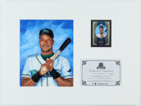 Fred McGriff Devil Rays 15x20 Custom Matted Diamond Kings Original Oil Painting Display With 2005 Diamond Kings #223 (Donruss COA) at PristineAuction.com