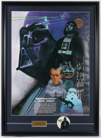 Original 1977 Star Wars Coca Cola Promo 22x29.75 Custom Framed Poster Display with Original 1977 Darth Vader Lapel Pin at PristineAuction.com