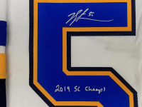 "Jordan Binnington Signed 2019 Stanley Cup Blues Jersey Inscribed ""2019 SC Champs"" (Fanatics Hologram) at PristineAuction.com"
