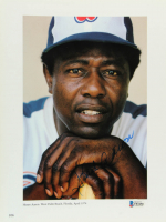 Hank Aaron Signed Braves 8.75x11.75 Photo (Beckett COA) at PristineAuction.com