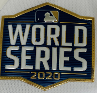 Cody Bellinger Signed Dodgers Jersey with 2020 MLB World Series Logo Patch (Fanatics Hologram & MLB Hologram) at PristineAuction.com