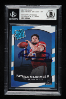 Patrick Mahomes II Signed 2017 Donruss #327 Rated Rookie RC (BGS Encapsulated) at PristineAuction.com