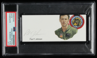 Paul T. Johnson Signed 2x5 Cut (PSA Encapsulated) at PristineAuction.com