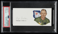 Fitzhugh L. Fulton Signed 2x5 Cut (PSA Encapsulated) at PristineAuction.com