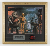 "Ralph McQuarrie ""Star Wars: Return of the Jedi"" 17x18 Custom Framed Pre Production Art Print Display with Original Movie Pin at PristineAuction.com"