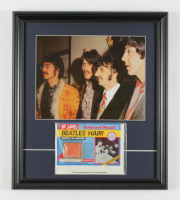 """The Beatles"" 15x17 Custom Framed Photo Display with Beatles Vintage Hair in Original Sealed Package at PristineAuction.com"